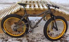 Carbon fat bike for riding in winter