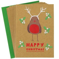 small charity robin cards - pack of 10 from Paperchase