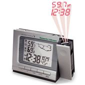 The Projection Alarm Clock and Weather Monitor.  We have one and won't ever have a bedroom clock that doesn't shine on the ceiling again!