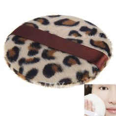 $1.56 Exquisite Leopard Grain  Make-up Soft Powder Puff Sponge for Face Facial Foundation Cosmetic