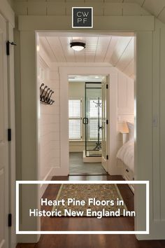 The rustic charm of Heart Pine flooring helped create a high-end, yet relaxing atmosphere in this restored historic New England Inn. Take a tour of Pickering House to discover how wide plank floors added a touch of authenticity to this distinctive inn. Heart Pine Flooring, Pine Floors, Wolfeboro Inn, Historic New England, Wide Plank Flooring, Rustic Charm, Authenticity, Restoration, House Design
