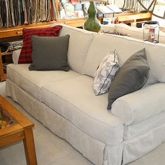 Lockside Trading - It's not just a destination - It's an experience! Sofa, Couch, Trading Company, Sunroom, Window Treatments, Cottages, Interior Design, Furniture, Ideas