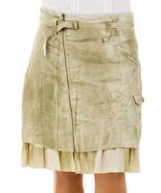Take a look at this Oyster Linen Inke Skirt - Women & Plus by Yest on #zulily today!