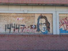On a building in Detroit on Jefferson Avenue Searching For Sugar Man, Detroit, Graffiti, Heart, Building, Music, Buildings, Construction, Graffiti Artwork