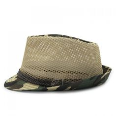 7.81$  Watch here - http://dicga.justgood.pw/go.php?t=179735801 - Stylish Belt and Mesh Embellished Camouflage Pattern Men's Jazz Hat 7.81$