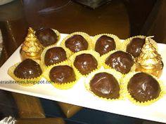 Οι γεύσεις της Ελεάννας: ΣΟΚΟΜΠΟΥΚΙΤΣΕΣ Christmas Desserts, Easy Desserts, Truffles, Cake Pops, Cheesecake, Muffin, Food And Drink, Sweets, Candy