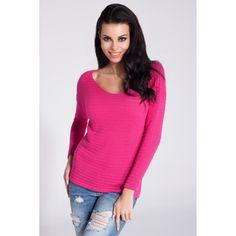 Bluza de dama casual/sport cu decolteu adanc si maneci lungi.Este un model… Lingerie, V Neck Tops, Pulls, Rib Knit, Ideias Fashion, Pullover, Knitting, Sport, Sweaters