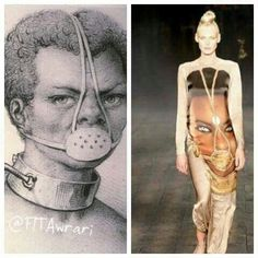 They trying to tell you something so called black woman.....Can you believe they actually made it into fashion?