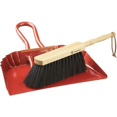 Red Dustpan in Cleaning | Crate and Barrel