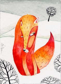 """Fox"" by Dilka Bear"