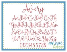 """AVERY : names, words, dates up to 4"""" (AC2508)"""