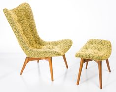 GRANT FEATHERSTON 152 CHAIR AND OTTOMAN