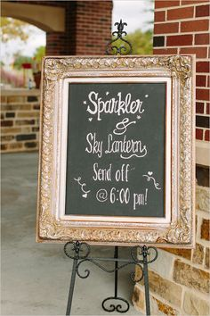 "sparkler and sky lantern send off sign;; We HAVE to do a lantern send off. I'm only the biggest ""Tangled"" fan."