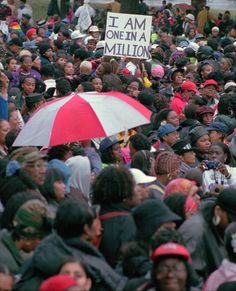 Million Woman March, Philadelphia, Oct. 25, 1997. Credit Chris Gardner/Associated Press