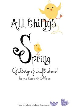 Gallery of All things Spring ideas of my own. Home decor, crafts, and budget friendly ideas. Get them early! All on a dollar budget!