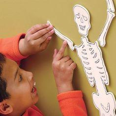 Mr. Bones Relay Race (Halloween Games for Kids)   Spoonful - includes free printable of skeleton