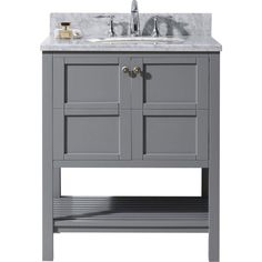 Pic On Virtu USA Dior inch White Single Sink Cabinet Only Bathroom Vanity by VIRTU USA Vanity set Bathroom vanities and Bathroom ideas