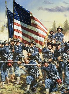 """""""6th Wisconsin at Gettysburg"""" By Rick Reeves The Iron Brigade"""