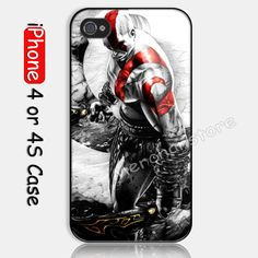 God Of War Kratos Custom iPhone 4 or 4S Case Cover