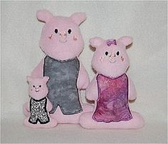 Deluxe Pig Family Softie - SewingForSarah.Webs.Com For playing the Three Little Pigs!!!