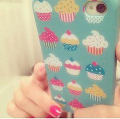 Cute cupcake case! Girly Phone Cases, Ipod Cases, Cupcake Cases, Cute Cupcakes, Cute Cases, Spice, Sugar, Iphone, Random