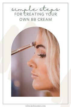 Have you heard about BB cream and wonder if it is something you need to add to your makeup drawer? Why pay for expensive BB cream? You probably have everything you already need to create your own BB cream using products you know and love. I explain just what BB cream is, and how to create the same look with products you already own. Enjoy using your creamy Seint makeup to create a BB Cream finish for a fast makeup routine that is easy enough to remember each day! Simple Everyday Makeup, Everyday Makeup Routine, Daily Beauty Routine, Simple Eye Makeup, Natural Makeup Looks, Makeup Tutorial Step By Step, Easy Makeup Tutorial, Makeup Tutorial For Beginners, Fast Makeup