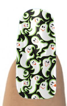 Halloween Goofy Ghosts Jamberry Nail Shields, Nail Wraps - Buy Jamberry Nails at: www.coolnailshields.com