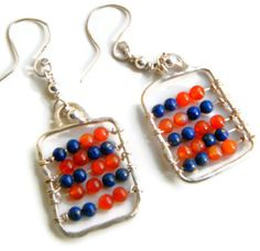 925 Silver Abacus Earrings w Lapis Lazuli & by DormouseDesigns, £26.00