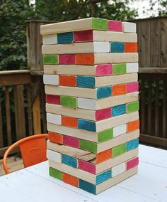 Giant backyard jenga