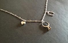 Silver luck & love charm necklace horseshoe by CaronPowerJewellery