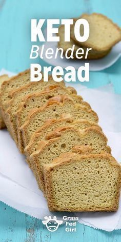 Keto Blender Bread | http://www.grassfedgirl.com/easy-low-carb-keto-blender-bread-recipe/