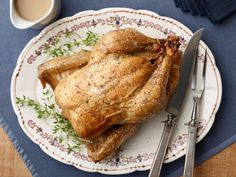 Simple Roast Chicken with Gravy : You'll love having this roast chicken in your weeknight repertoire. One bird can supply you with a dinner, leftovers for sandwiches or salads, and a carcass and bones (which you can freeze for up to a month) to make stock. Use your homemade stock to make gravy the next time you roast a chicken.