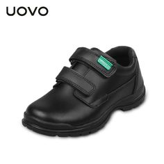 (29.98$)  Buy here  - UOVO 2017 New Children's Real Leather (Cow Split) Shoes Boys Waterproof Black Leather Shoes School Uniform Shoes Wearable Casual