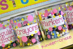 A Modern Teacher: Mission Organization: Organizing All Those Little School Supplies