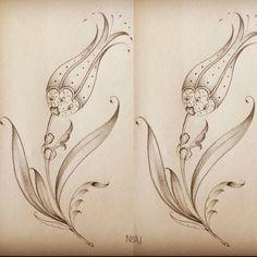 Henna Patterns, Embroidery Patterns, Tulip Tattoo, Arabic Pattern, Floral Drawing, Turkish Art, Tile Art, Ceramic Painting, Islamic Art
