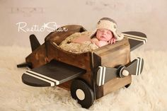 Wooden Airplane Photography Prop by TwinkleStarPhotoProp on Etsy, $150.00