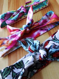 Toddler/Kid Girl Knot Tie Headbands Set - Tie-dye, Floral & Southwestern/Arizona Prints - pinned by pin4etsy.com