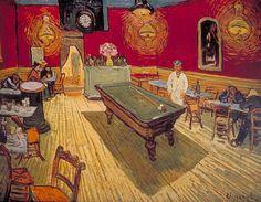 Vincent van Gogh, Dutch, active France, Le café de nuit (The Night Café) 1888 Oil on canvas, The Yale University Art Gallery Art Van, Desenhos Van Gogh, Artist Canvas, Canvas Art, Canvas Prints, Big Canvas, Canvas Paintings, Abstract Canvas, Painting Frames