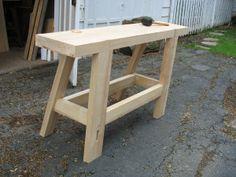 Roubo workbench – A Woodworker's Musings Woodworking Bench Plans, Woodworking Basics, Woodworking Workbench, Woodworking Furniture, Furniture Plans, Woodworking Crafts, Workbench Plans, Woodworking Videos, Folding Workbench