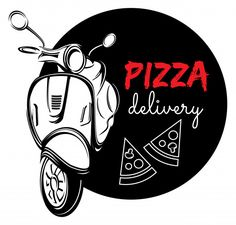Illustration about Vector illustrations of the Pizza delivery label. Pizza Branding, Pizza Logo, Pizza Restaurant, Logo Restaurant, Cute Pizza, Mini Pizza, Pizza Home Delivery, Pizza Kunst, Hamburg