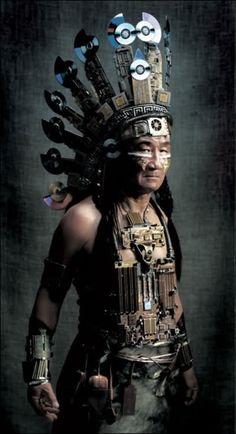 Cyberpunk Native American   Neat!