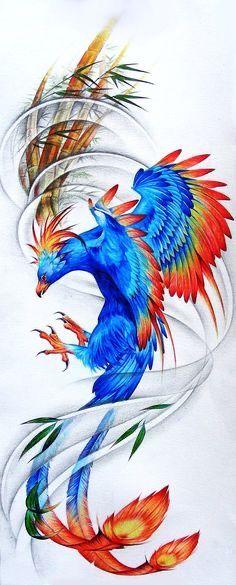 Phoenix by Coconut-CocaCola on DeviantArt Future Tattoos, New Tattoos, Body Art Tattoos, Tattoo Drawings, Sleeve Tattoos, Cool Tattoos, Tatoos, Phoenix Bird Tattoos, Phoenix Tattoo Design