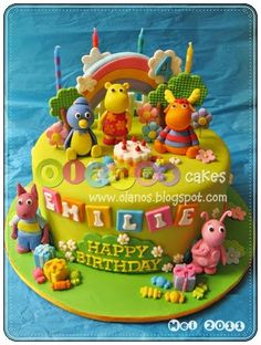 Pin The Backyardigans Birthday Cake For Emilie Picture To cakepins.com