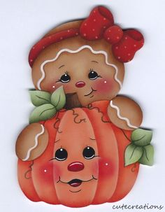 HP GINGERBREAD with Pumpkin FRIDGE MAGNET