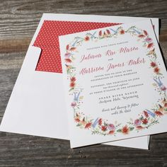 Lupin | Watercolor and letterpress wedding invitations