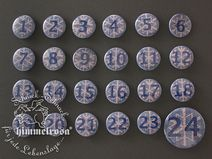 Adventskalender Buttons Strickoptik - DIY