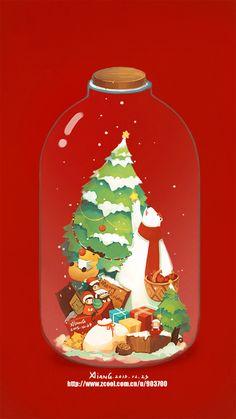 Merry Christmas Gif, Christmas Artwork, Christmas Graphics, Christmas Drawing, Christmas Wallpaper, Christmas Pictures, Christmas Time, New Year Illustration, Illustrations