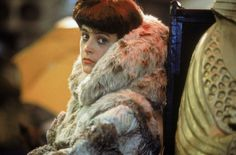 Sean Young behind the scenes of Blade Runner