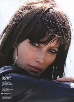 Elle (US) September 2000 Next Of Skin Photography by Gilles Bensimon Christy Turlington