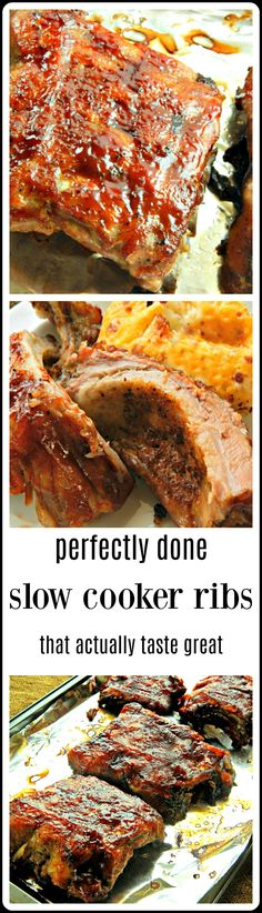 """It IS possible to make great ribs in the slow cooker - one's that aren't cooked to death, limp soggy slap you on the chin when you try to take a bite ribs. These are succulent, juicy and have the perfect """"bite!"""" And they taste great!"""